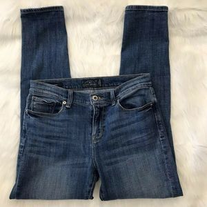 LUCKY BRAND BROOKE SKINNY SIZE 8 RIPPED JEANS